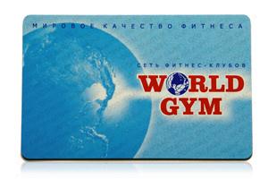 Карта фитнес клуба World Gym