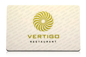Карта клиента ресторана Vertigo