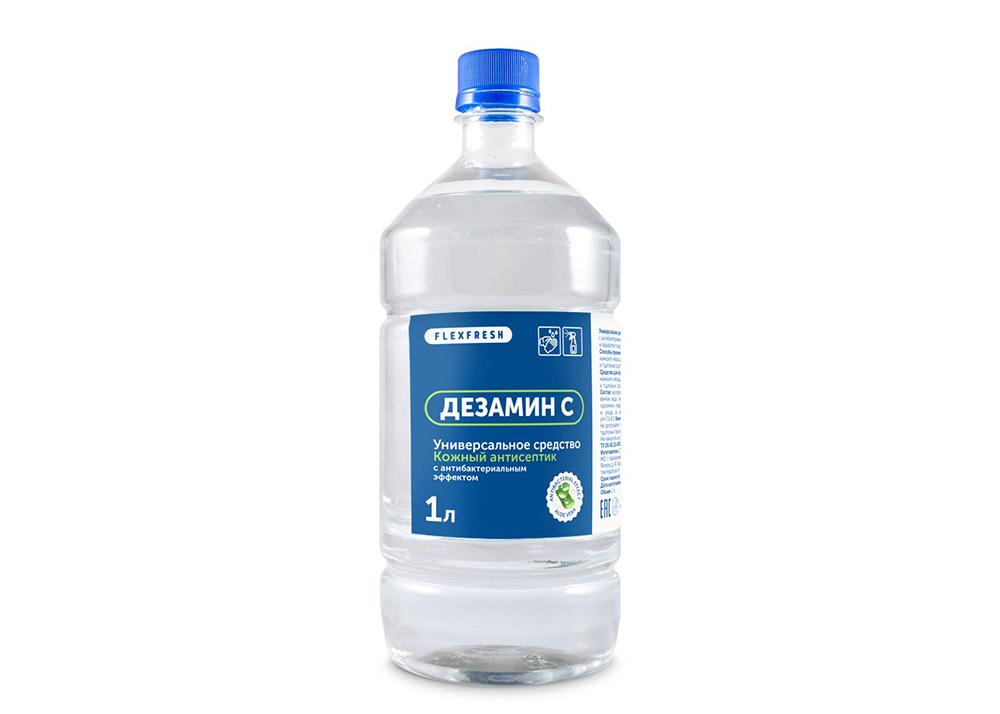 Фото универсального кожного антисептика для обработки рук и поверхностей 1 литр на основе изопропилового спирта