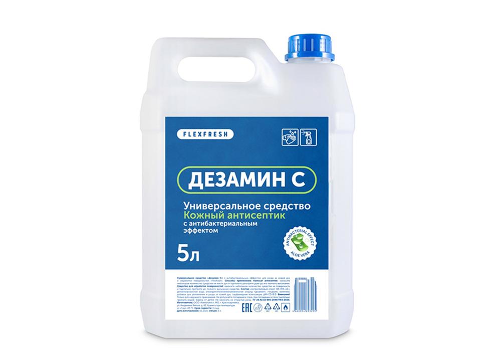 Фото универсального кожного антисептика для обработки рук и поверхностей 5 литров на основе изопропилового спирта